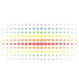 dash currency spectrum halftone grid vector image vector image