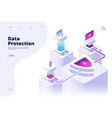 data protection concept digital security channel vector image vector image