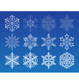 decorative snowflakes set - winter series clip-art vector image vector image