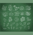 doodle sketch crystals collection of minerals on vector image vector image