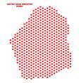 dubai emirate map - mosaic of heart hearts vector image vector image