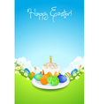 Easter Card with Landscape vector image vector image