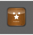 Favourites wood application icons vector image vector image
