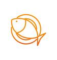 fish healthy food fitness gradient line vector image