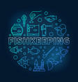 fishkeeping blue round on dark vector image vector image
