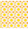 Floral seamless pattern Flowers repeating texture vector image vector image