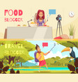 food blogger banners collection vector image vector image