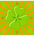 four leaf shamrock vector image vector image