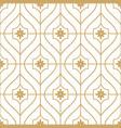 gold geometric minimal seamless pattern vector image vector image