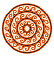 greek wave mandala ancient round meander vector image