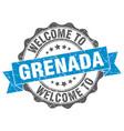 grenada round ribbon seal vector image vector image