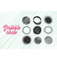 hand made scribble circle vector image