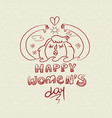 happy international womens day nature girl doodle vector image vector image