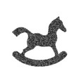 horse toy sign black icon from many vector image vector image