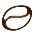 isolated coffee bean icon vector image