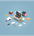 isometric learning process vector image vector image