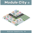 isometric modern city vector image