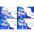 isometric virtual reality processes vector image