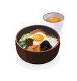 korean food vector image vector image