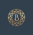 letters b luxury logo template vector image vector image
