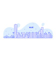 malmo skyline sweden city buildings linear vector image vector image