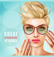 manicure female model background vector image vector image