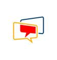 overlapping speech bubble logo template design vector image vector image