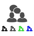 people dialog flat icon vector image vector image