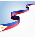 philippines flag wavy abstract background vector image