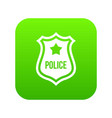 police badge icon digital green vector image