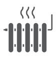radiator heating glyph icon real estate and home vector image vector image