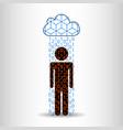 rain information man vector image vector image