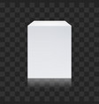 realistic white cube isolated on transparent vector image vector image