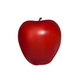 red apple in isolated on white background vector image