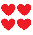 red heart flat icon vector image vector image