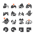 river icon set vector image vector image