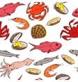 seafood seamless vector image