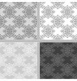 Seamless ethnic monochrome pattern vector image
