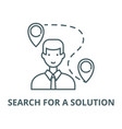search for a solution line icon linear vector image vector image