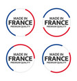 set of four french icons made in france premium vector image vector image