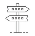signpost thin line icon development and business vector image vector image