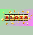 slot machine gambling game casino banner vector image vector image