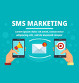 smartphone sms marketing concept banner flat vector image vector image