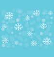 snowflakes and snowball on turquoise blue vector image