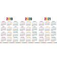 spanish calendar 2019 - 2021 vector image