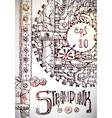 steampunk hand drawn vector image vector image