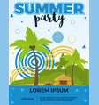 summer party poster with palms vector image