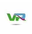 VR logo vector image vector image
