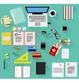 Working place in flat design vector image vector image