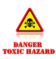 yellow warning danger toxic hazard icon background vector image